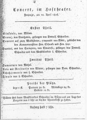 April 1806 Konzert Coburg