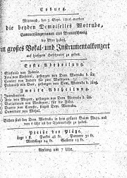 September 1806 Konzert Coburg
